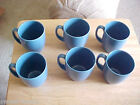 Set of 6 Corelle Stoneware Cornflower Blue Coffee Mugs Cups