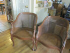 Post 1950's Vintage Caned Hardwood Chairs