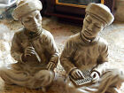 Asian Chalkware 1958 Universal Statuary Corp. Bookends----Vintage