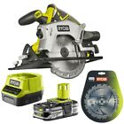 Ryobi ONE+ 18V Cordless Circular Saw with 1.5Ah Lithium Battery, Super Charger