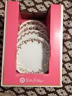 Lilly Pulitzer for Target--18K gold white porcelain Dessert/Appetizer Plates-NEW