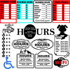 52 Business Hours Sign Templates Vector Clipart for Vinyl Cutter