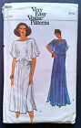 Vtg 1980s Vogue Very Easy Evening Dress Pattern 7226 Misses Sz 14 Blouson Style