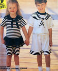 Vintage Kids Sailor Style Shorts & Tops Outfits Pattern sz 4-6  UNCUT *