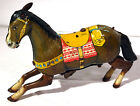 Tin Litho COWBOY'S WIND-UP HORSE Haji Japan 1950s-60s Vtg Toy - FOR PARTS-REPAIR