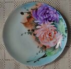 ANTIQUE 1920's H. WEHINGER & CO. HAND PAINTED PORCELAIN PLATE - CZECHOSLOVAKIA