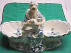 Antique Meissen Lady with a Goose in fine German porcelain mid 20th