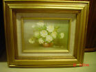 ROBERT COX (1934-2001) Listed Signed Original Floral Painting Roses Rose Bouquet