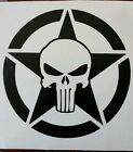 Punisher star jeep Wrangler Hood Decal JK TJ YJ CJ RUBICON