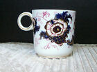 Antique Cauldon Imari Porcelain Blue Orange Demitasse Cup England 1850 - 1899