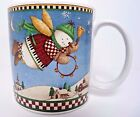 Debbie Mumm 2001 Sakura Snow Angel Village Oneida Coffee Mug Tea Cup