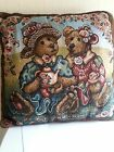 Boyds Bear Afternoon Tea Tapestry Square Pillow
