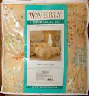 Waverly CAPE CORAL-CORAL 4 Piece King Quilt Set NIP, 1st Quality, Retail $215.