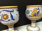 Cama Deruta Italy Majolica Goblets Wine (2) Different Designs