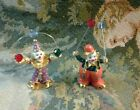 2 Spoontiques Pewter Painted Clowns