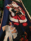 CHRISTMAS SANTA CLAUS Fleece BLANKET WALL HANGING Fabric Panel Patty Reed 32x52