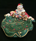 Fitz and Floyd 1995 Christmas Santa Toys Bag Serving Bowl Centerpiece