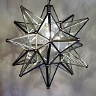 Moravian Star Pendant Light 19 15 or 10 Choose your Glass  Trim Options