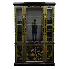 Vintage Oriental American of Martinsville Paint Decorated China Cabinet Curio