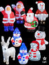 Light Up Acrylic Santa Snowman Reindeer Christmas Outdoor Indoor LED Decoration