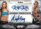 RONDA ROUSEY & LOMBARD 2014 UFC Bloodlines Kindred Combatants DUAL AUTO # 4 25
