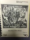 Bally Escape from the Lost World Pinball Users manual