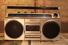 Vintage Sony CFS-400 Boombox Cassette player Portable Stereo Cassette and Radio