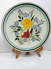 Stangl Country Garden Large Platter Chop Cake Plate 12.5