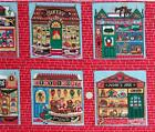 Concord ~ CHRISTMAS SHOP WINDOWS ~ Sharon Kessler Quilt Sew Fabric 44