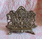 HUBBARD Scrolly ORNATE BRASS TONE Metal LETTER HOLDER*