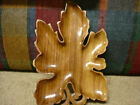 Leaf Shaped Hawaiian Monkey Pod Wooden Tray 13 Inches Long Vintage Party Tray