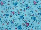 Joan Kessler TINY FLORAL Cotton Fabric 5.2 Yards Pinks Blues ~ Dolls Quilts