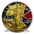 1oz 999 Silver Flag Colorized and Gold Gilded American Eagle Coin Mitage300psc