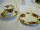 Royal Albert Old Country Roses - set of 4 cup, saucer, and plate