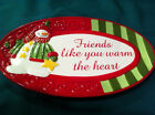 Fitz and Floyd Christmas Holiday Oval Plate Collectible Winter Holiday Classics