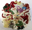 Fitz & Floyd Holiday Elf Christmas Collectible Canape Plate Serve or Hanging EUC