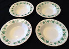 Set 5 Green LIBERTY IVY LEAVES Vintage HOMER LAUGHLIN China Plates / Soup Bowls