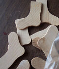 Stocking or Sock Shaped Unfinished Wooden Cutouts Crafts 100 pcs 2 New