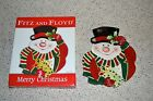 FITZ AND FLOYD Merry Christmas Canape Plate