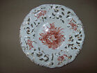 VTG Pierced Italian Plate Hand Painted Reticulated Italy Gold Gilding Floral Old