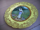 DRESDEN HAND PAINTED PLATE * FRUHLING * SPRING * GERMANY *