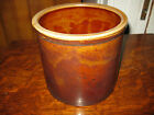 Antique Vtg Country Primitive Stoneware Butter Crock Brown Glaze