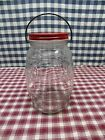 684 Vintage Bail Handled Barrel Pickle, Counter, Candy, Snack, Cookie, Store Jar