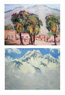 Taos, New Mexico Oil Painting ILA MCAFEE 'Indian Village', Double Sided, 11x14