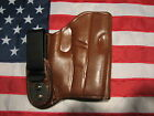 ETW Holsters Glock 26 27 33 w CT IWB w clip tuckable RHLH dark brown leather