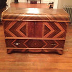 Roos Art Deco Sweetheart Inlay Arts and Crafts Waterfall Cedar Chest