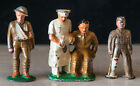 3 Manoil Barclay Wounded Toy Soldiers and Medical Doctor
