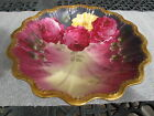THEODORE HAVILAND ANTIQUE LIMOGES SIGNED HAND PAINTED BOWL DUBOIS ROSES