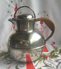 Son Silverplate Individual Teapot Hot Water Pot Rattan Handle