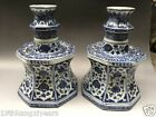 China, Porcelain Blue and white porcelain, huge candle holders